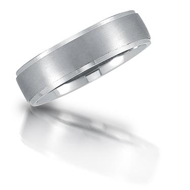 Platinum wedding band by Novell.