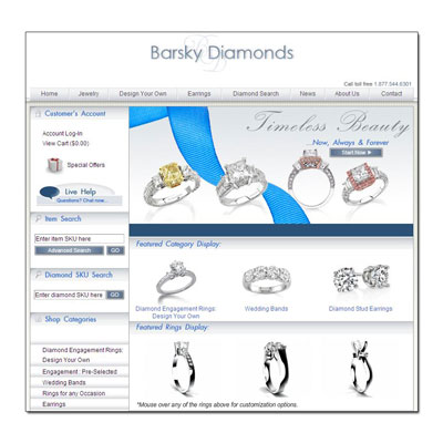 Buy Novell wedding rings at Barsky Diamonds.