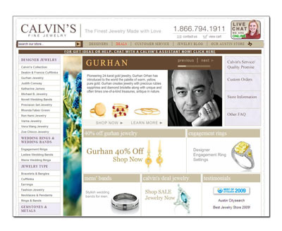 Buy Novell wedding bands at Calvin's Fine Jewelers in Austin.