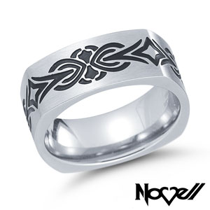 Stainless steel TATU ring.