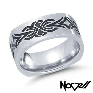 Stainless steel TATU ring.