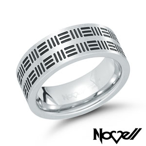 Stainless steel ring by Novell.