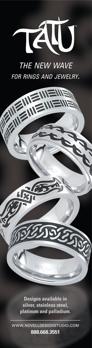Stainless steel wedding rings by Novell.