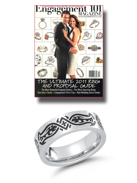 Stainless steel ring featured in Engagement 101.