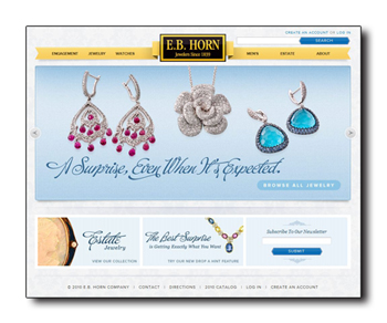 EB Horn jewelry website.