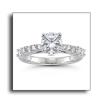 Platinum engagement ring by Novell.