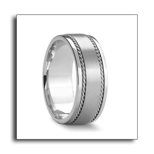 Their new silver wedding bands collection include some of Novell Design