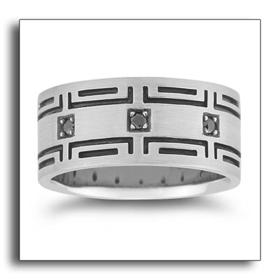 Novell's featured platinum design with black diamonds.