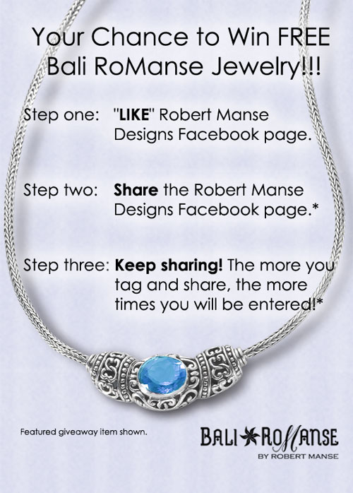 Facebook jewelry giveaway.