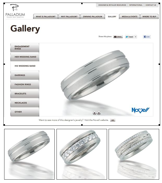 Palladium wedding bands.