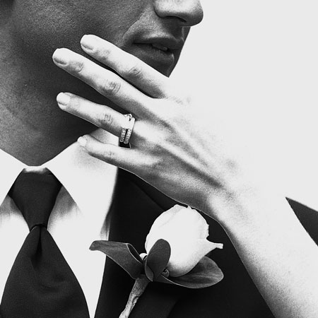 Couple and their wedding ring.