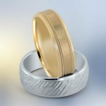 Novell gold wedding band