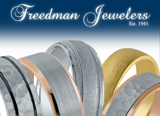 Novell wedding bands at Freedman Jewelers