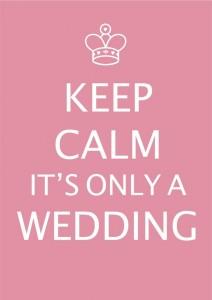 Wedding day stress