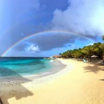 Rainbow found at Harbour Village in Bonaire - one of the great honeymoon destinations.