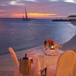 Beach dining at Bonaire's Harbour Village.