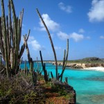 One of Bonaire's great honeymoon destinations - beach view.