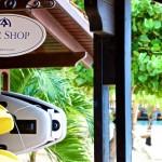 Dive shop at Harbour Village in Bonaire.
