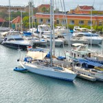 Marina view at Harbour Island in Bonaire.