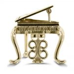Gold miniature piano