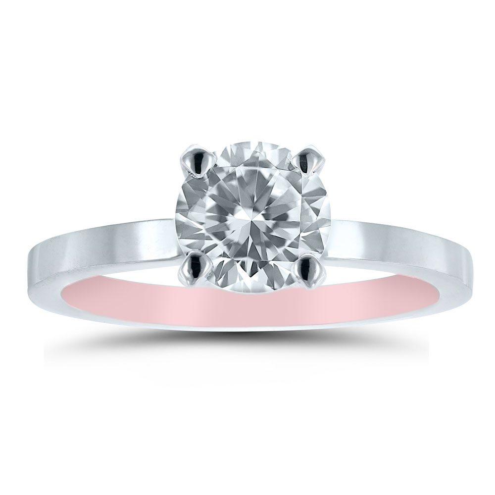 Et20301 Pink White Engagement Ring Novell Wedding Bands