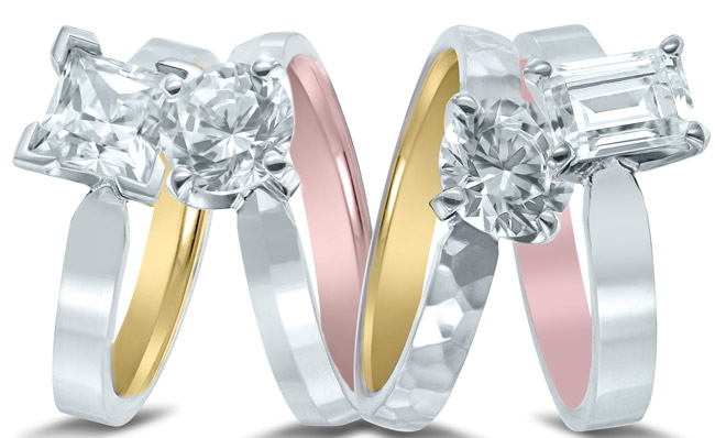 Inside out engagement rings by Novell