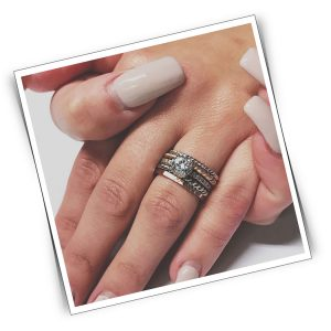 Stackable rings make great wedding bands.