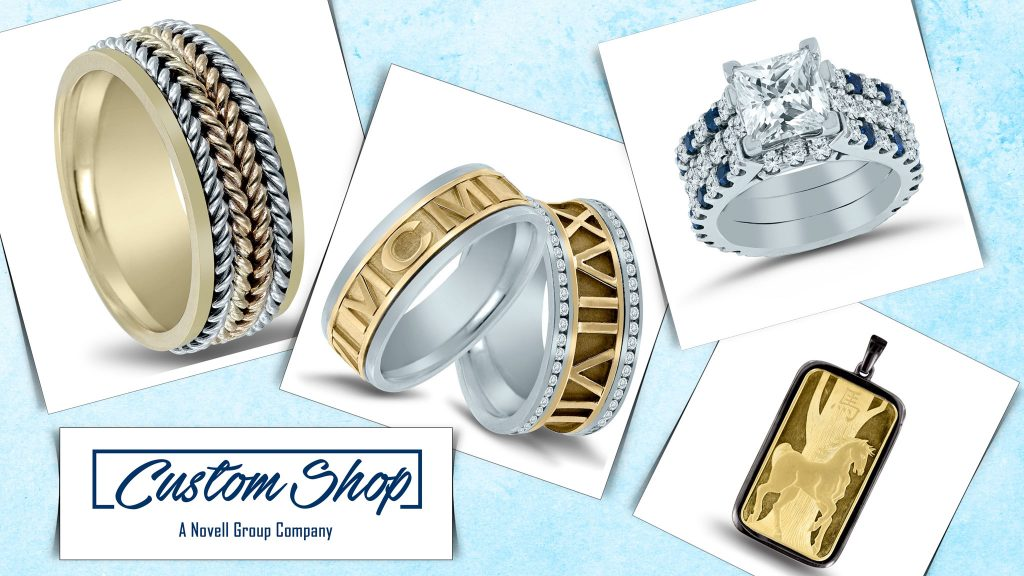 redesign your wedding band with Custom Shop