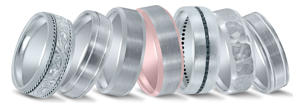 Novell wedding bands at Global DIamonds in Jacksonville