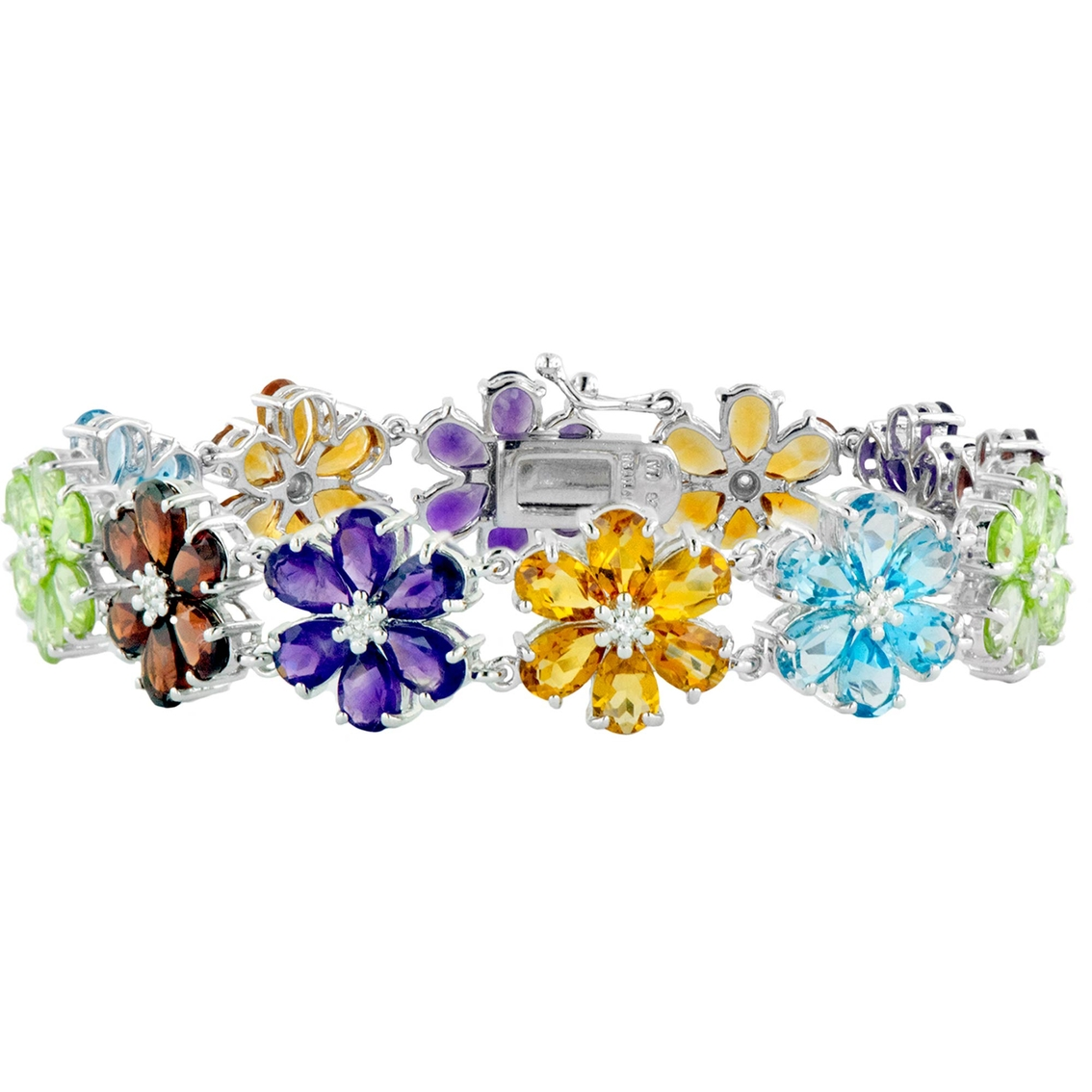 oval shipping free jewelry gemstone bracelet watches cut today overstock yellow multi gold product