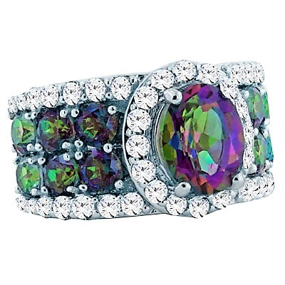 Alexandrite quartz ring on HSN