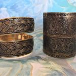 Handmade brass cuff bracelets