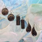 Available on Etsy - Handmade wood earrings