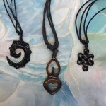 Available on Etsy - handmade wood pendants