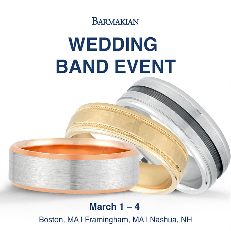 Novell wedding bands at Barmakian Jewelers