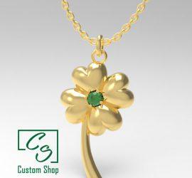 Four leaf clover - gold