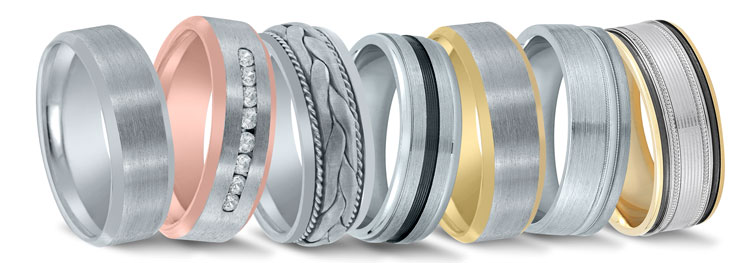 Novell wedding bands at Diamonds Direct in Charlotte