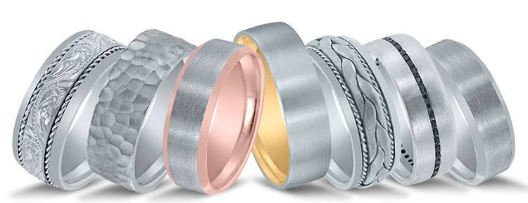 Novell wedding bands at Venus Jewelers