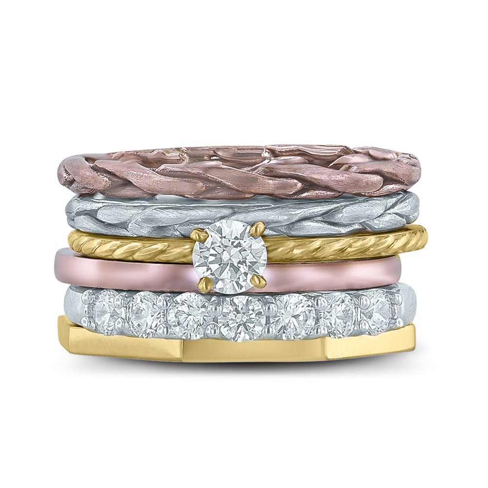 Circles stackable ring collection