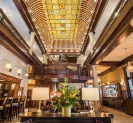 Hotel Boulderado - a scene from the lobby.