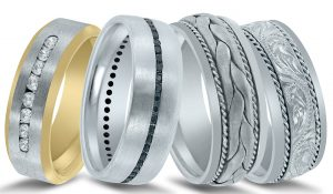 Austin wedding bands - available at Diamonds Direct.