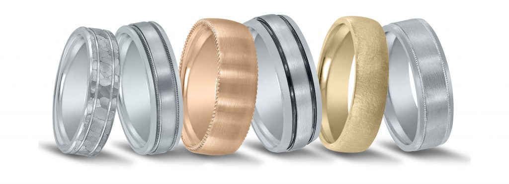 San Antonio wedding bands - available in platinum, palladium or gold.