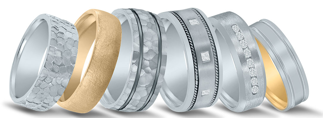 Winter Event Wedding Bands - See Novell at Diamonds Direct