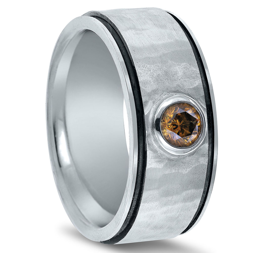 Custom wedding band by Novell's Custom Shop.