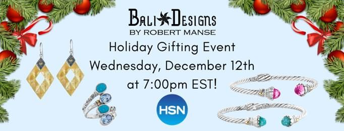 Great gift ideas - see Robert Manse Designs jewelry on HSN.