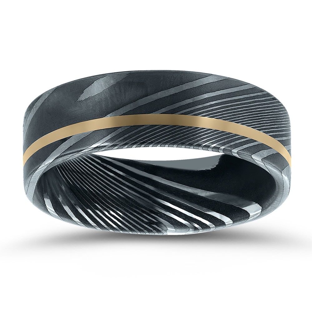 Alternative metal wedding band NT17401