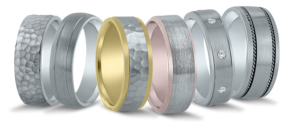 Wedding band events for Novell in 2020. American made wedding bands.