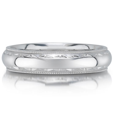 C1700/5GW wedding band  - 5mm - pictured in white gold, but can be made in platium or palladium.