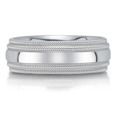 C2954/6GW wedding band - 6mm - pictured in white gold, but can be made in platinum or palladium.