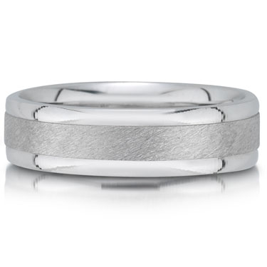 C4623/6GW is a hammered wedding band that is 6mm wide.